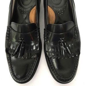 GH Bass Weejuns Men's Black Leather Loafers